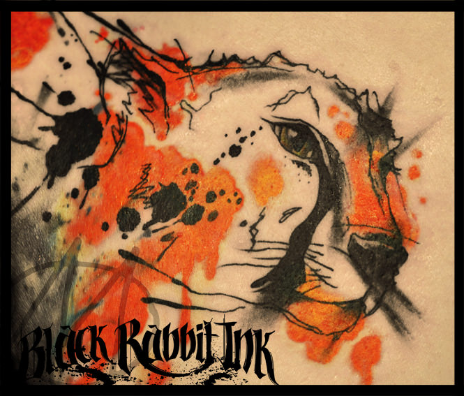 tattoo, watercolor, sketchy, gepard, gepardin, aquarell, cheetah, animal, raubkatze, cat, katze, modern, art