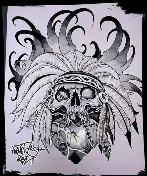 Voodoo, wannado, tattoo , flash , tattooflash, shameabc, graffiti, charakter, art, painting, illustration, indianart, feder, skull