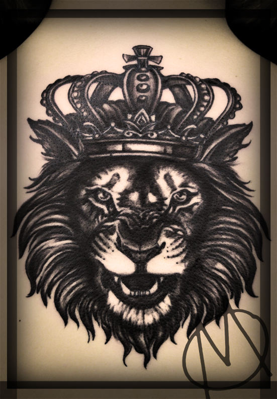 lion, realistic, crown, krone