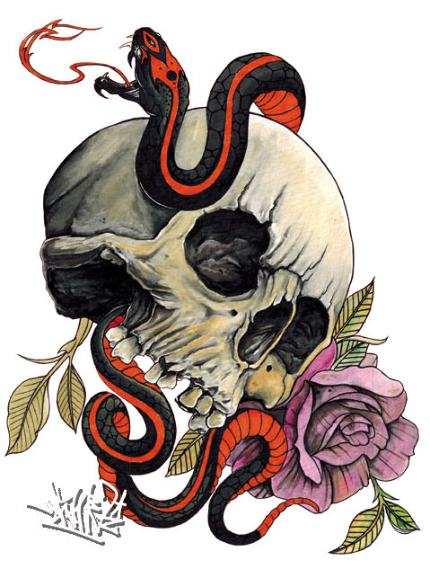 Voodoo, wannado, tattoo , flash , tattooflash, shameabc, graffiti, charakter, art, painting, illustration, skull, snake, schlangen