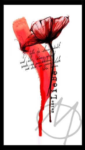 watercolor, modern, sketchy, art, drawing, mohnblume, mohn, skript, poppy, aquarell