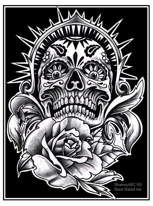 Sugarskull, Tattoo, Tattoodesign, Mexicanart, art, Kunst, Illustration
