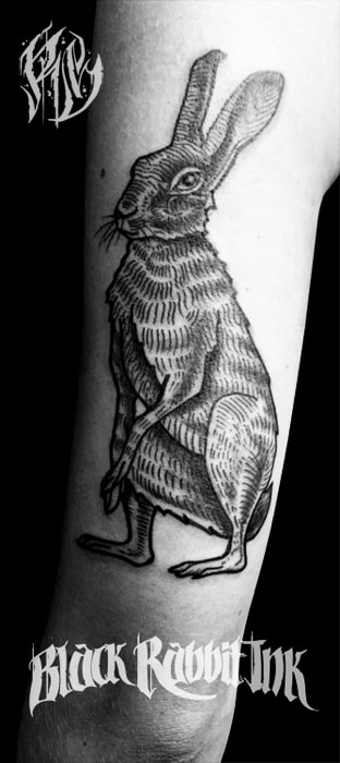 Black Rabbit, Tattoo, Linework, Tattoo München, Tattoostudios, Tattooshops, Tätowierer, Maxvorstadt. Shameyabc, Ralf Spitzer, Tattooed Girls